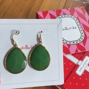 Stella and Dot Serenity earring Jade